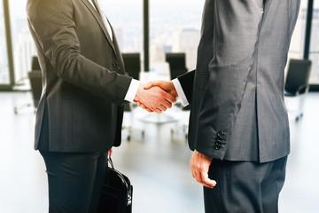 Businesspeople handshake