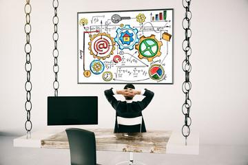 Success concept businessman