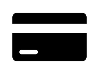Credit card / debit card flat icon for apps and websites