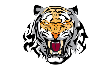tiger vector for tattoo or any graphic design