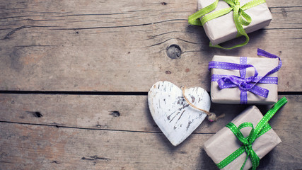 Romantic background with presents