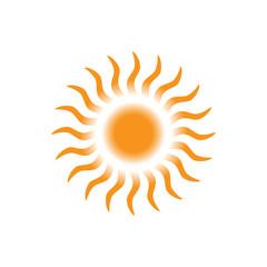 Sun icon - Vector color