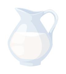 Milk jug vector illustration.