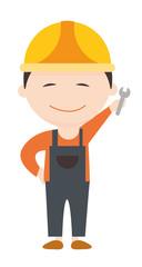 Beruf Handwerker freigestellt Vektor