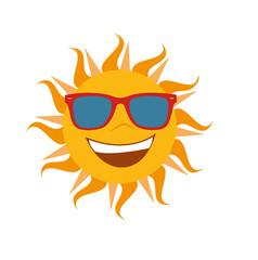 Sommer Sonne Sonnenschein Vektor freigestellt