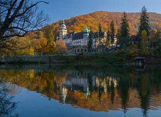 Lillafured palace in autumn season