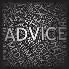 Advice,Word cloud art background