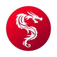 Red dragon vector illustration.