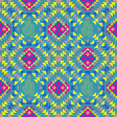 traditional Mexican pattern, vector seamless pattern, using a st