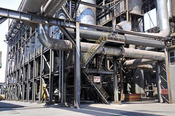 Pipeline valve facilities in steel mills
