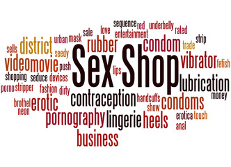 Sex Shop, word cloud concept 2