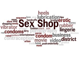 Sex Shop, word cloud concept
