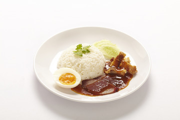 BBQ Pork over Rice with Sweet Gravy Sauce