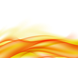 Abstract background with waves of red and yellow lines in the bottom of the picture, vector illustration