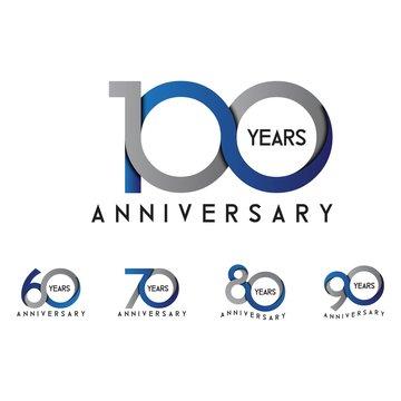 set anniversary 60th, 70th, 80th, 90th, 100th