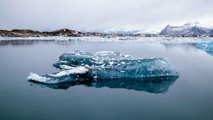 View of Jokulsarlon Ice Lagoon