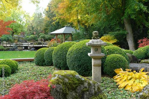 Japanischer Garten In Augsburg Im Herbst Stock Photo And Royalty