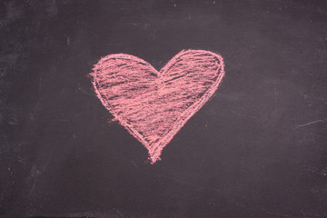 chalk heart drawing