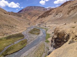 Leh-Manali highway and river, Ladakh, India