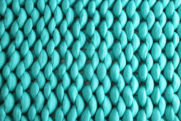 Knitted blanket background, closeup