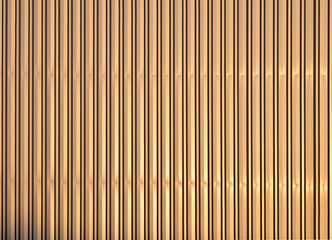 Aluminum golden corrugated metal wall