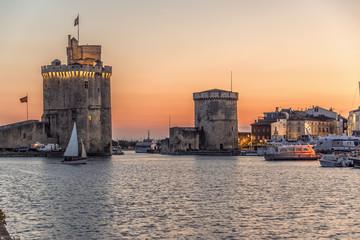 Tours Saint Nicolas et de la chaine,Vieux Port, La Rochelle, France