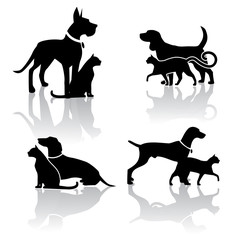 Vet Dog cat et Icon EPS vector