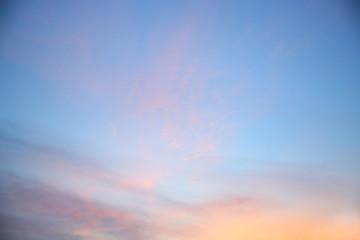Beautiful  sunset sky.