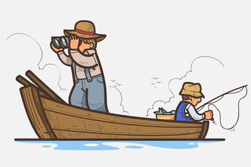Foto op Plexiglas Piraten Fishing boat