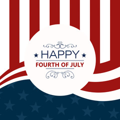 Vector Illustration of a 4th of July Independence Day Background