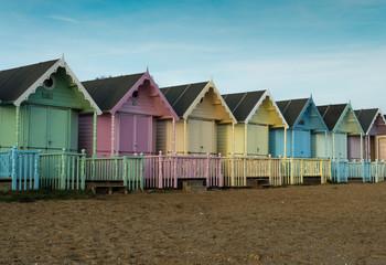 Beach Huts at Mersea Island