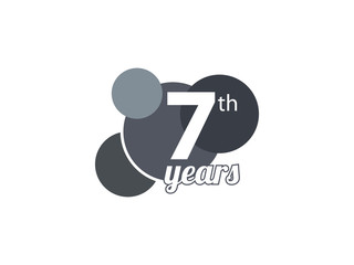 7th year anniversary logo