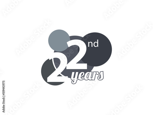 Th anniversary ring logo blue ribbon u stock vector ariefpro
