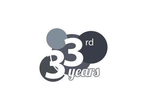 33rd year anniversary logo