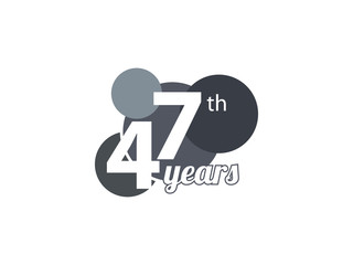 47th year anniversary logo