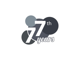 77th year anniversary logo