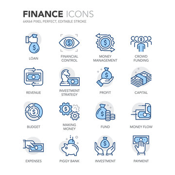 Blue Line Finance Icons