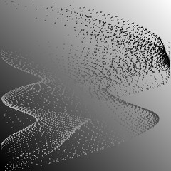 Consisting of little graphics monochrome abstract background vector illustration
