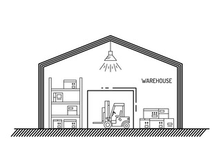 warehouse outline style