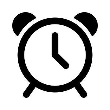 Alarm clock flat icon for apps and websites