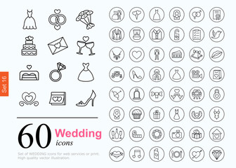 60 wedding icons