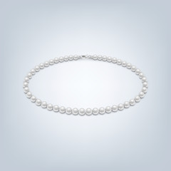 Isolated pearl necklace
