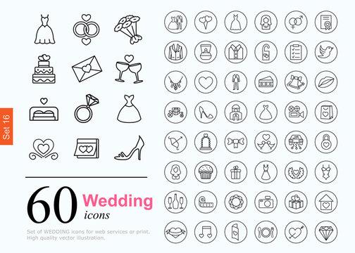 60 wedding icons