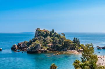 Isola Bella; Taormina; Sizilien Fototapete