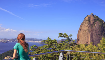 girl at Pao de Acucar