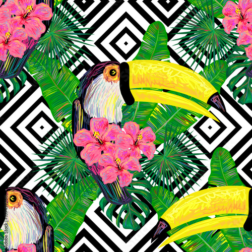 wallpaper tropical birds and foliage - photo #23