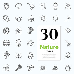 30 nature icons