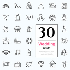30 wedding icons