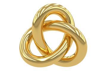 Golden Trefoil Knot, 3D rendering