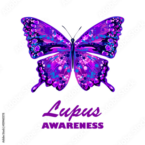World Lupus Awareness Day Butterfly Vector Design Sign Symbol Of